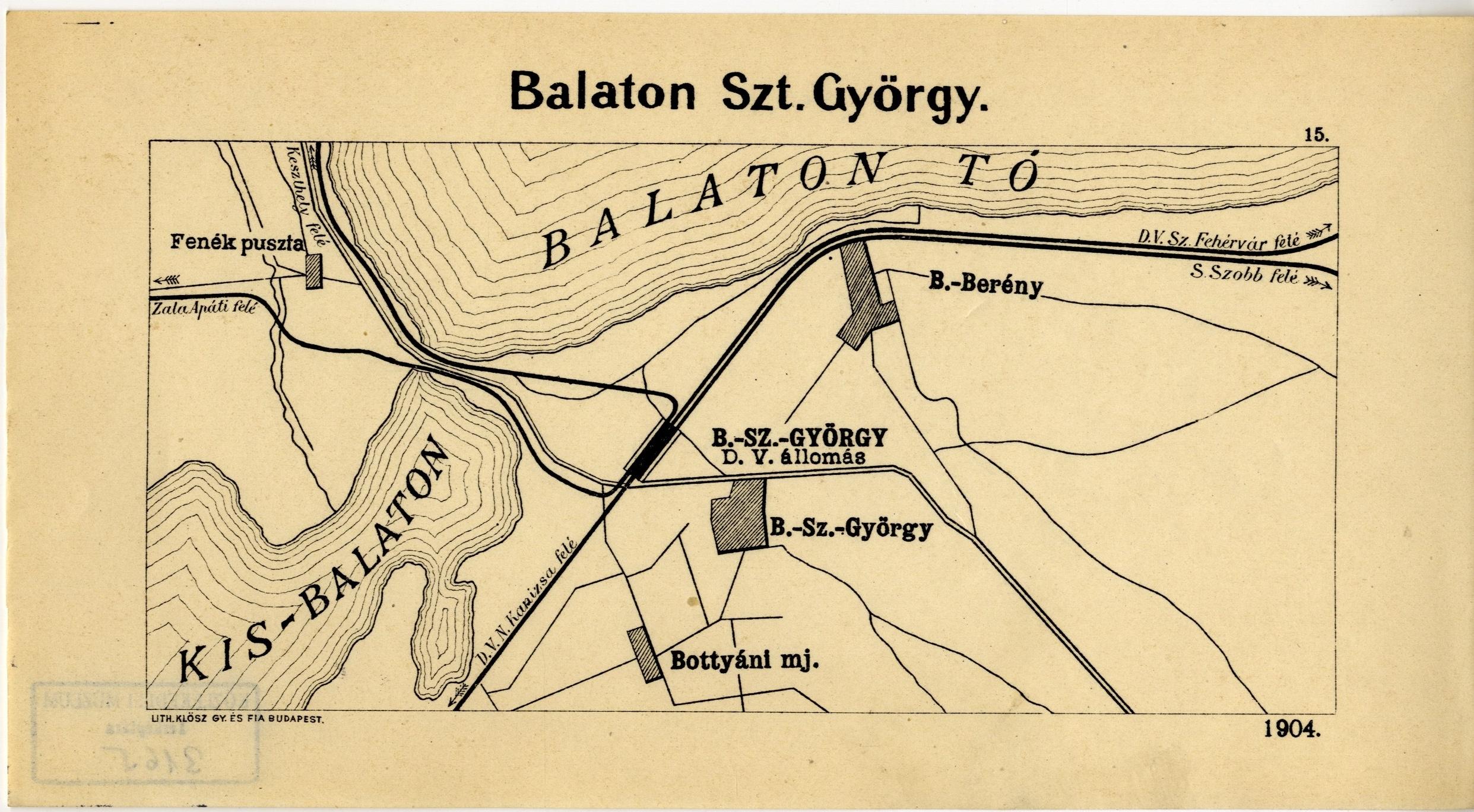 Balatonszentgyorgy Vasutallomas Kiagazasi Terkepe Magyar