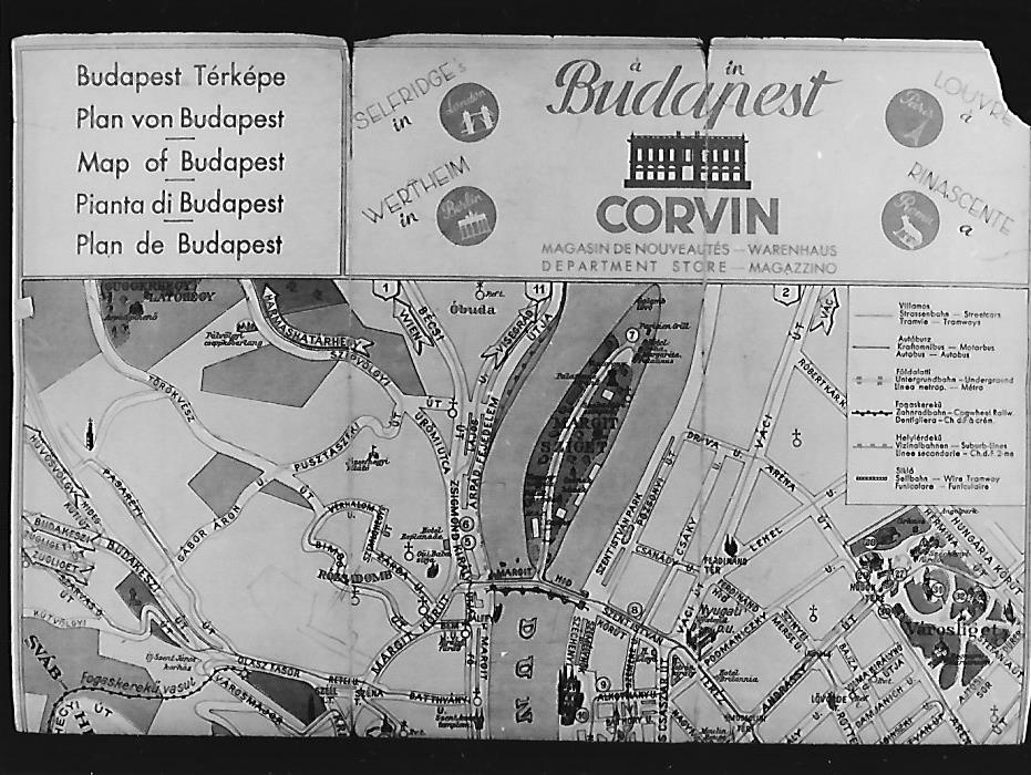 Terkep Budapest 1938 Magyar Kereskedelmi Es Vendeglatoipari