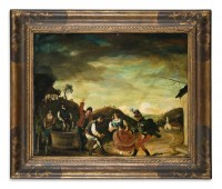Gyula Rudnay: untitled (scene with grape harvest and dancing)