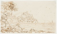 Károly Markó Sr.: untitled (landscape with castle and body of water)