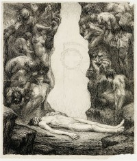 Unknown artist (Károly Divéky?): untitled (Symbolist allegory with ...