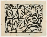 "Sándor Bortnyik: untitled (study for ""Composition with Six ..."